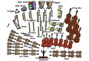 Instruments in an orchestra and seating arrangements | Motor City ...